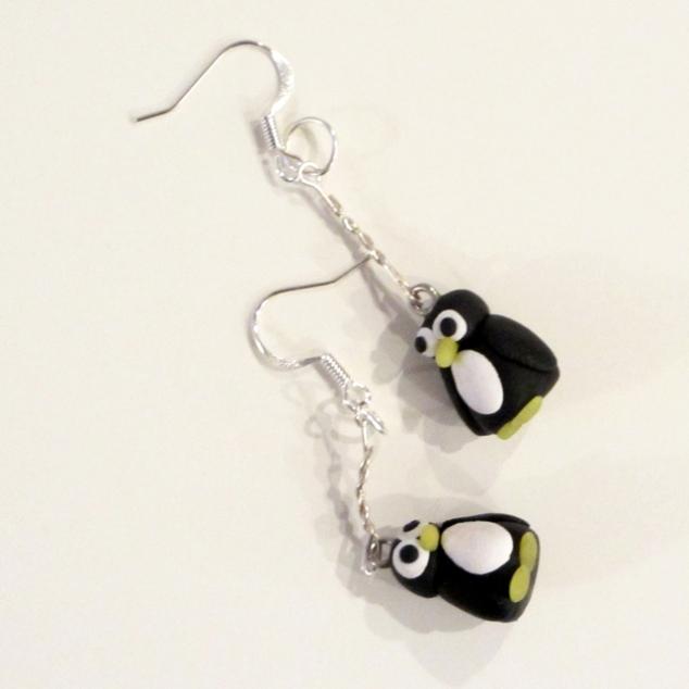 Penguin Drop Earrings