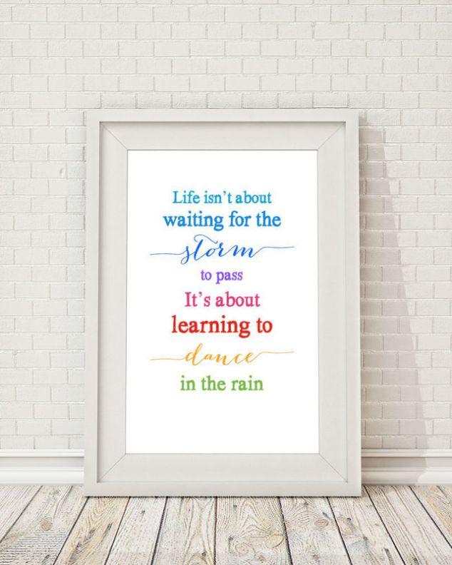 Dancing in the Rain Print