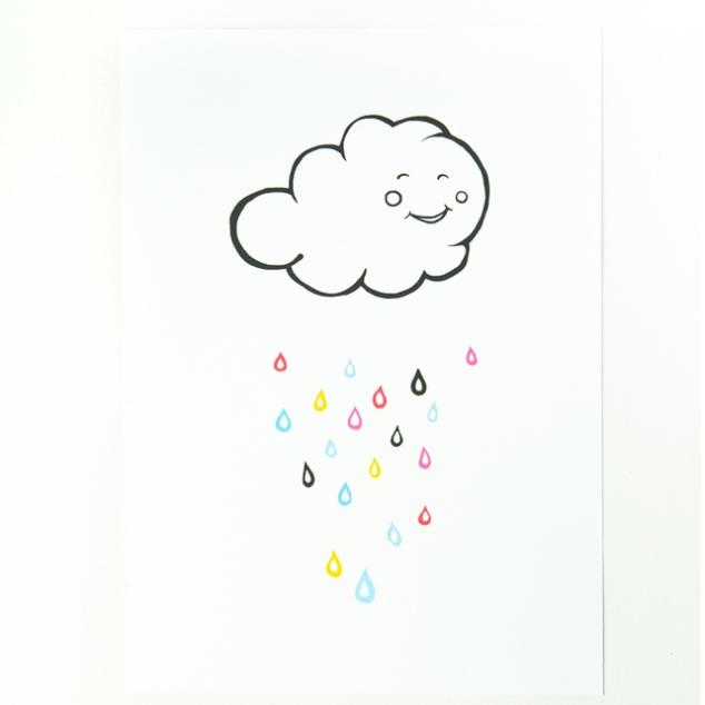 Happy Rain Cloud Print