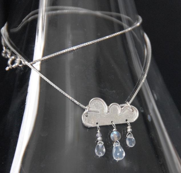 Silver Rain Cloud Pendant