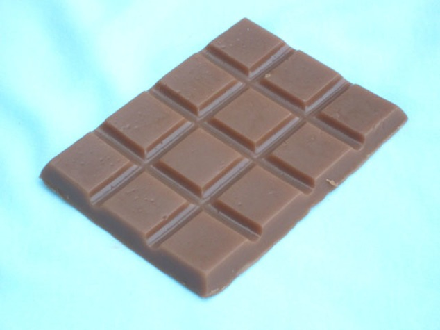 Soap bar of chocolate