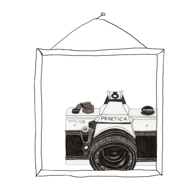 Praktica Camera Illustration Print