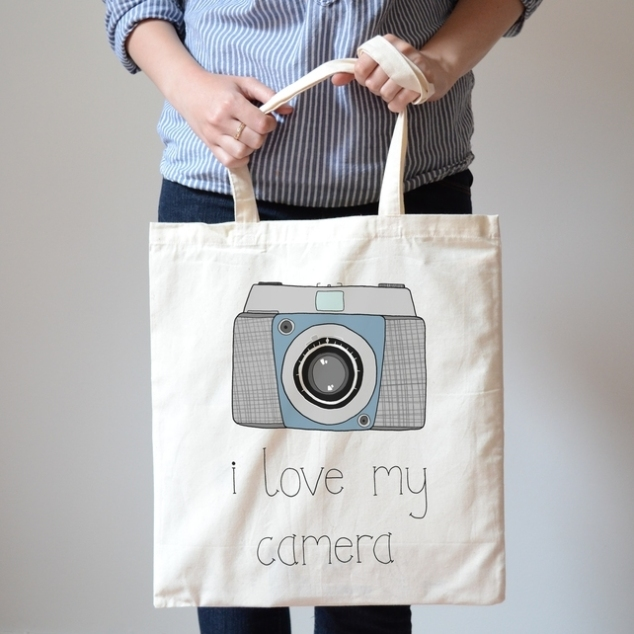 Vintage Camera Canvas Bag