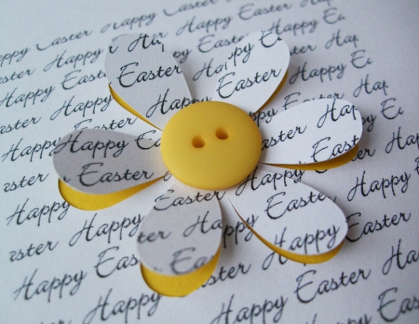 Easter card flower