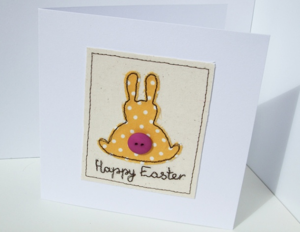 Embroidered Bunny card