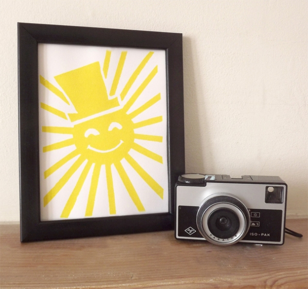 Sunshine relief print
