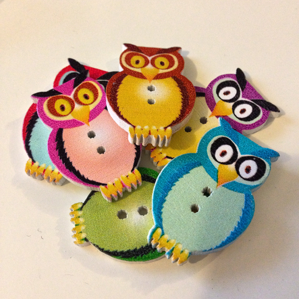 4th - Owl Buttons